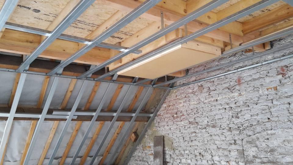 Pose escalier escamotable et structures métallique