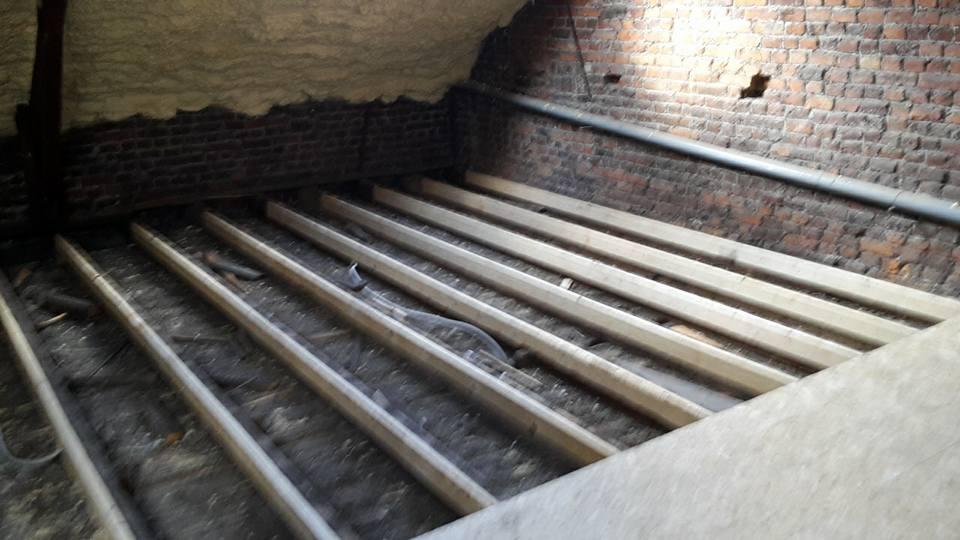 Démontage plancher existant, jumelage srn 25 X 100